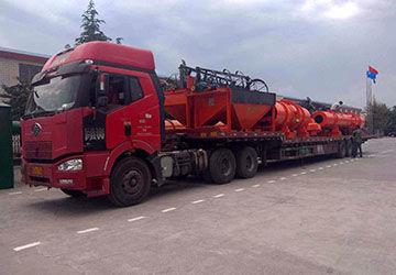 时产5吨有机肥设备发货现场